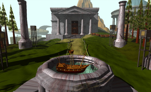 Myst-library_and_ship